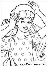 Pintar e Colorir Barbie - Desenho 005