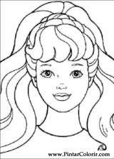 Pintar e Colorir Barbie - Desenho 008