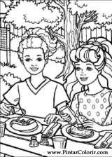 Pintar e Colorir Barbie - Desenho 012