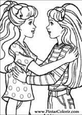 Boya Ve Barbie Boyama Için çizimler Sayfa 3