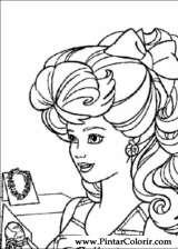 Pintar e Colorir Barbie - Desenho 027