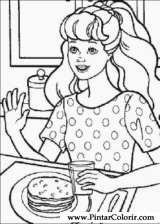 Pintar e Colorir Barbie - Desenho 032