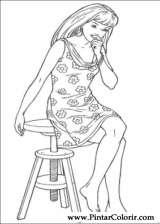 Boya Ve Barbie Boyama Için çizimler Sayfa 5