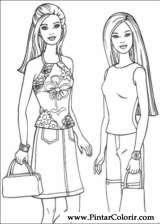 Pintar e Colorir Barbie - Desenho 045