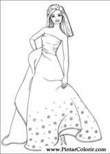 Pintar e Colorir Barbie - Desenho 049