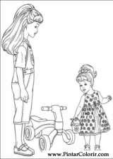 Pintar e Colorir Barbie - Desenho 057