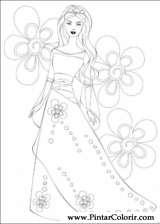 Pintar e Colorir Barbie - Desenho 068