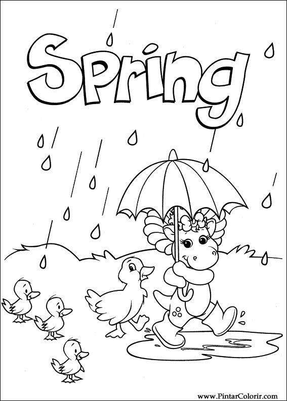 Pintar e Colorir Barney - Desenho 003