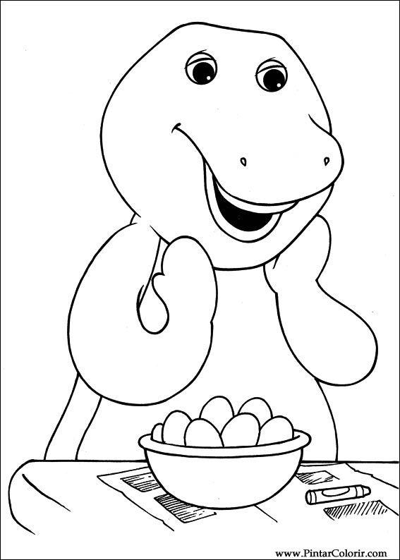 Dibujos para pintar y Color Barney - Diseño de impresión 010