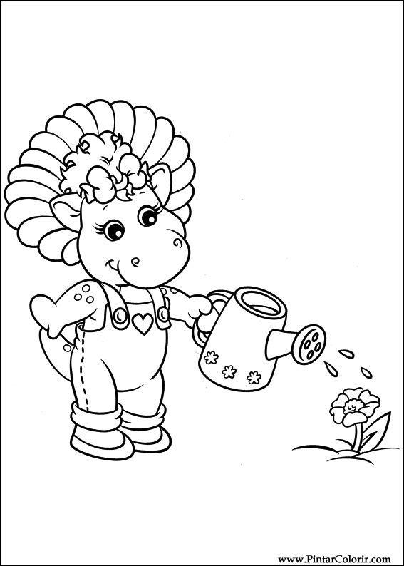 Dibujos para pintar y Color Barney - Diseño de impresión 014