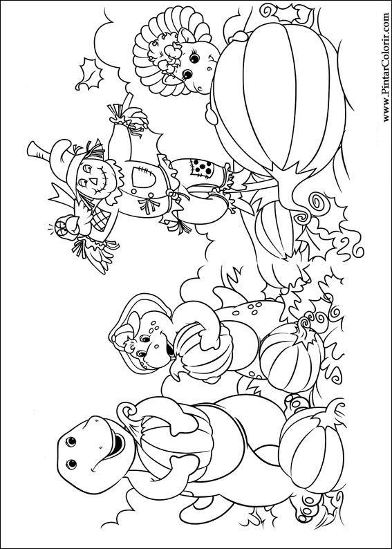 Dibujos para pintar y Color Barney - Diseño de impresión 032