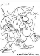 Pintar e Colorir Barney - Desenho 004