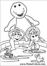 Pintar e Colorir Barney - Desenho 007