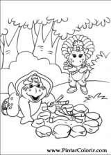 Pintar e Colorir Barney - Desenho 022