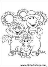 Pintar e Colorir Barney - Desenho 024