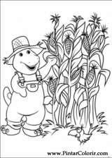 Pintar e Colorir Barney - Desenho 025