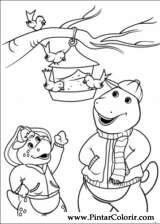 Pintar e Colorir Barney - Desenho 039