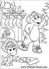 Pintar e Colorir Barney - Desenho 040