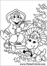 Pintar e Colorir Barney - Desenho 041