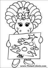 Pintar e Colorir Barney - Desenho 043