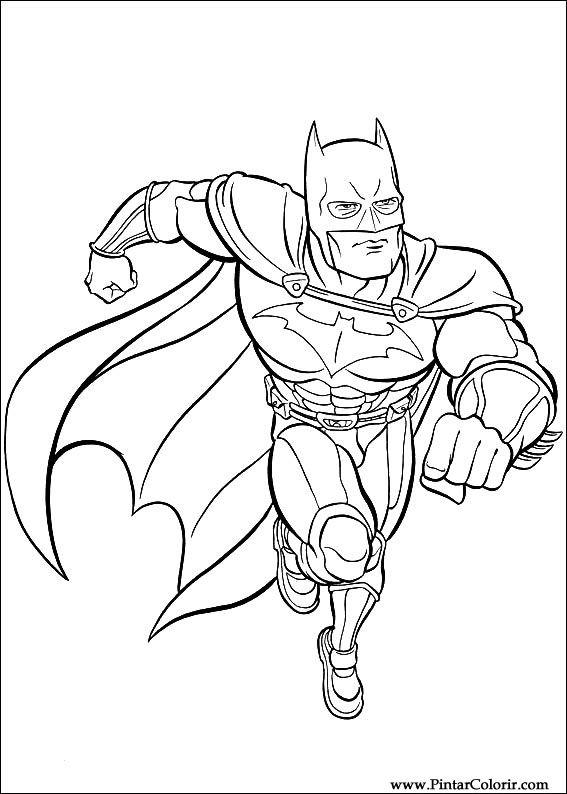 Dessins De Peindre Et Couleur Batman Imprimer Conception 004