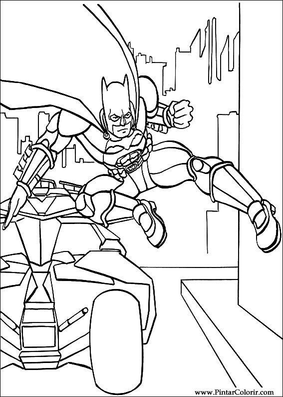 Dibujos para pintar y Color Batman - Diseño de impresión 007