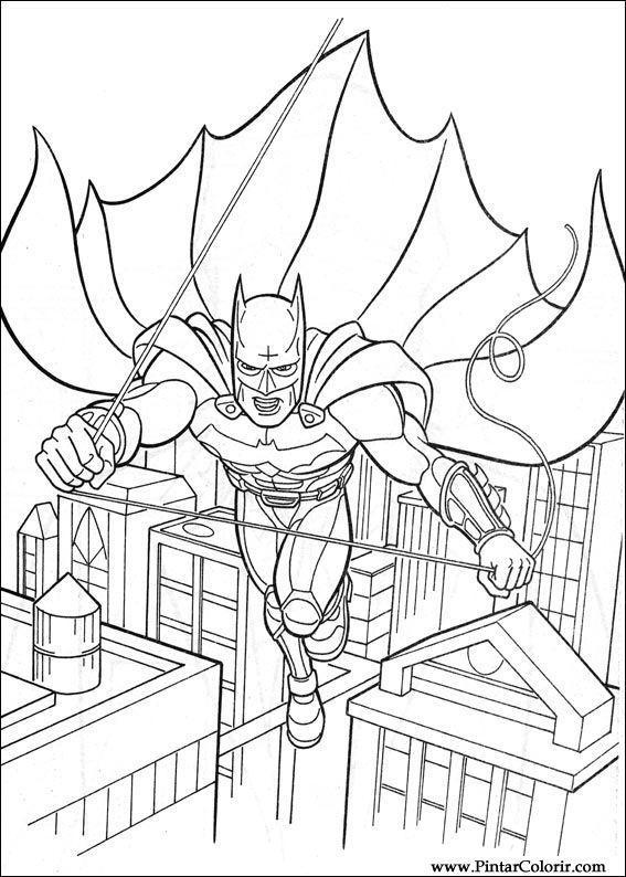 Dessins De Peindre Et Couleur Batman Imprimer Conception 026