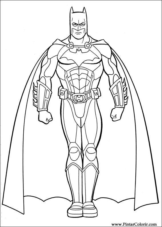 Drawings To Paint Amp Colour Batman Print Design 031