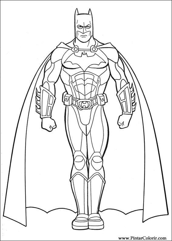 Dessins De Peindre Et Couleur Batman Imprimer Conception 032