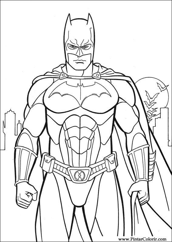 Batman Boyama Sayfasi Resim Boyama
