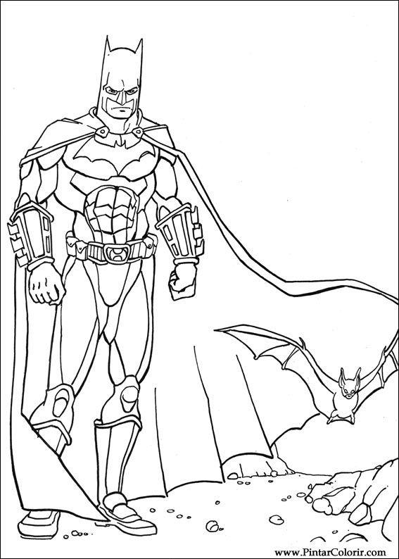 çizimler Boya Ve Renk Batman Için Baskı Tasarım 035