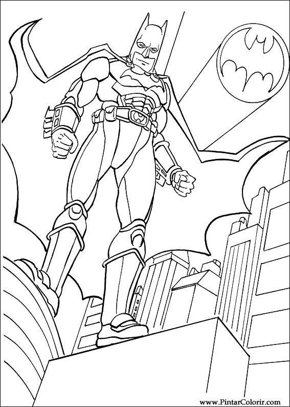 Desenhos Para Pintar E Colorir Batman Imprimir Desenho 037