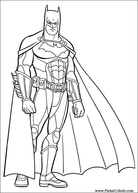 Dibujos Para Pintar Y Color Batman Diseño De Impresión 042