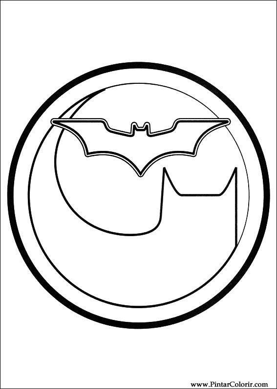Dibujos Para Pintar Y Color Batman Diseño De Impresión 043