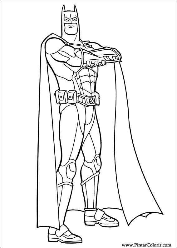 çizimler Boya Ve Renk Batman Için Baskı Tasarım 048