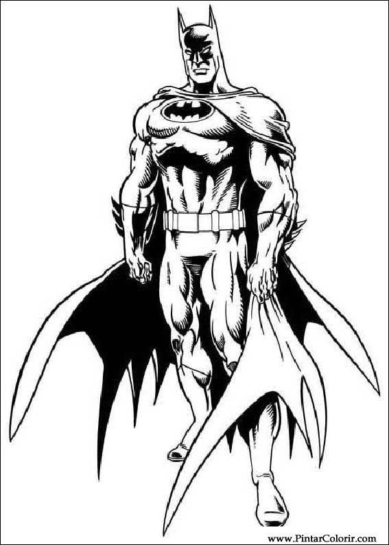Desenhos Para Pintar E Colorir Batman Imprimir Desenho 050