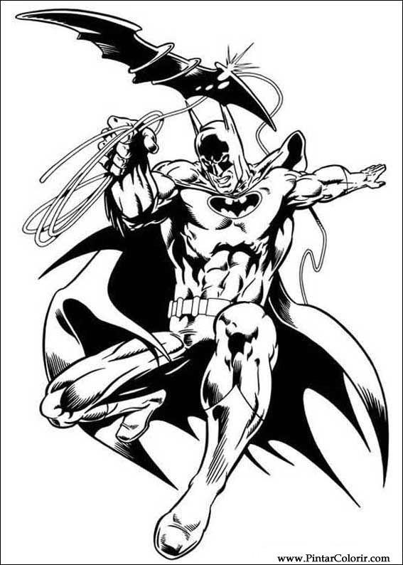 Desenhos Para Pintar E Colorir Batman Imprimir Desenho 051