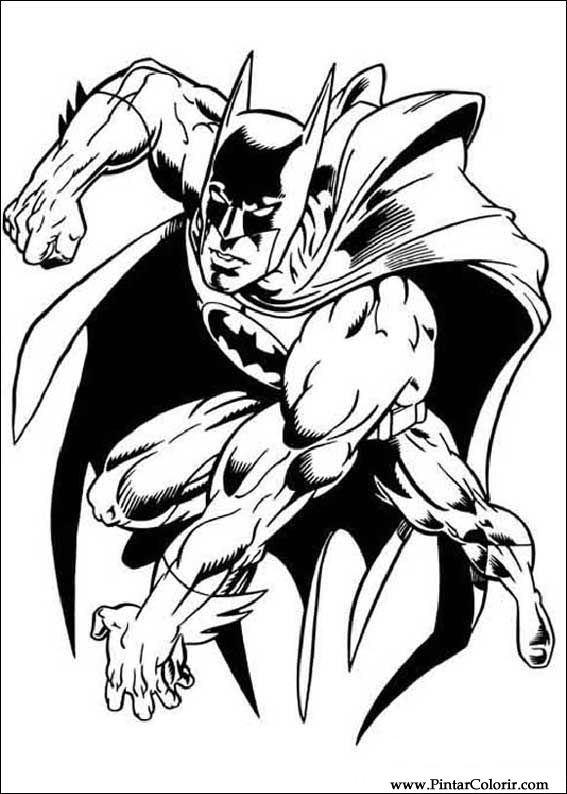 Desenhos Para Pintar E Colorir Batman Imprimir Desenho 052