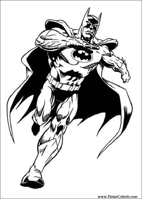 Desenhos Para Pintar E Colorir Batman Imprimir Desenho 053