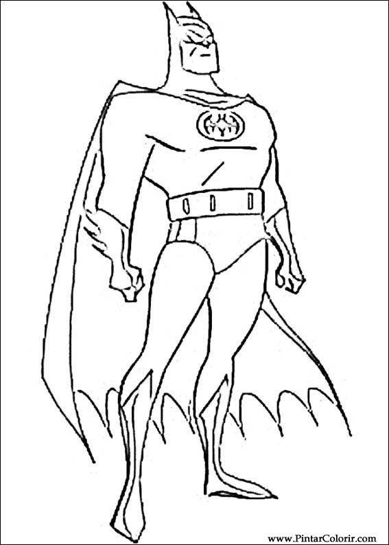 Dessins De Peindre Et Couleur Batman Imprimer Conception 054