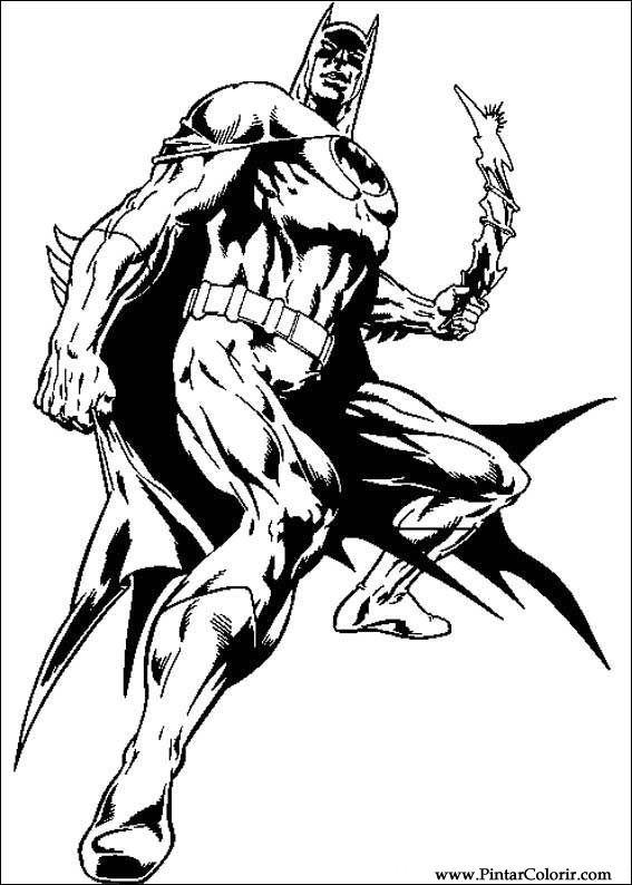 Dibujos para pintar y Color Batman - Diseño de impresión 064