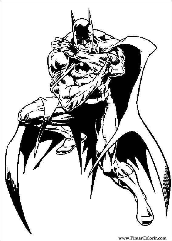 Dibujos Para Pintar Y Color Batman Diseño De Impresión 065