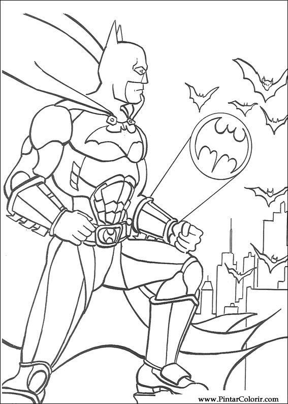 Desenhos Para Pintar E Colorir Batman Imprimir Desenho 102