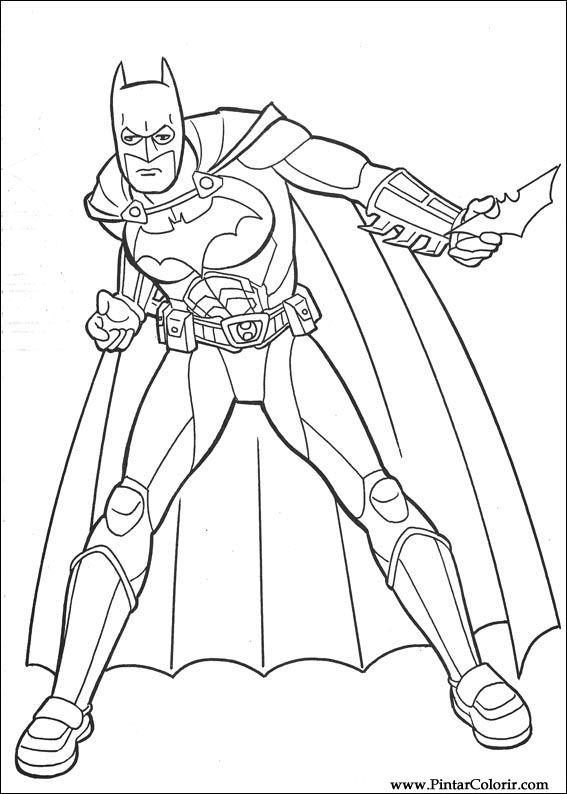 Dibujos para pintar y Color Batman - Diseño de impresión 109