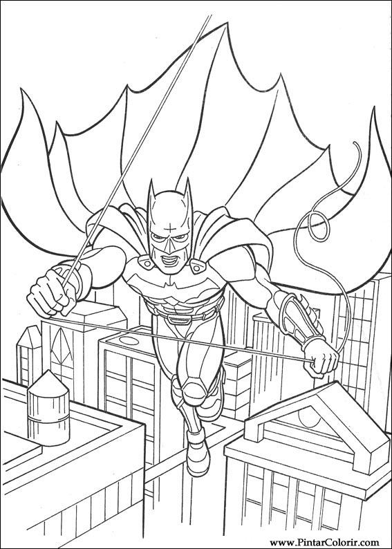 Dibujos para pintar y Color Batman - Diseño de impresión 111