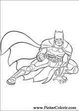 Pintar e Colorir Batman - Desenho 001