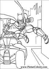 Pintar e Colorir Batman - Desenho 007