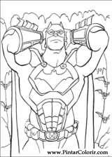 Pintar e Colorir Batman - Desenho 013