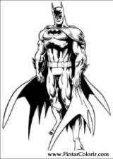 Pintar e Colorir Batman - Desenho 050