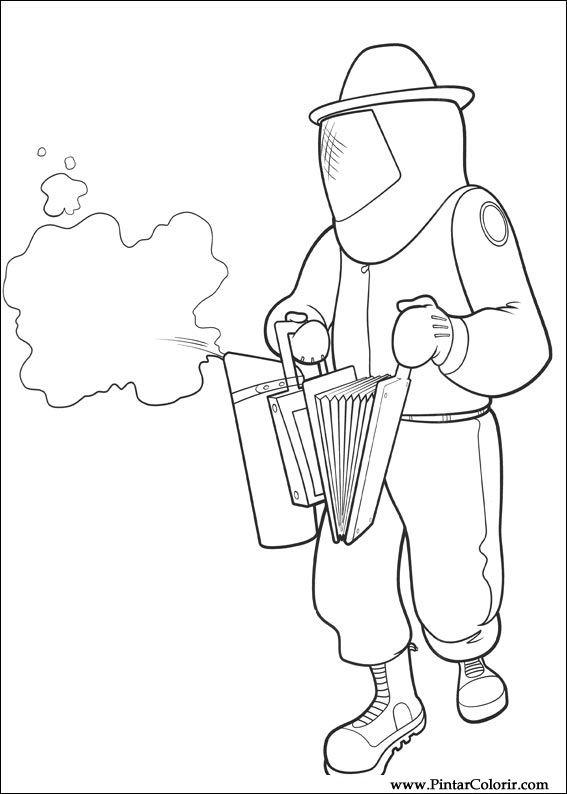 Pintar e Colorir Bee Movie - Desenho 018